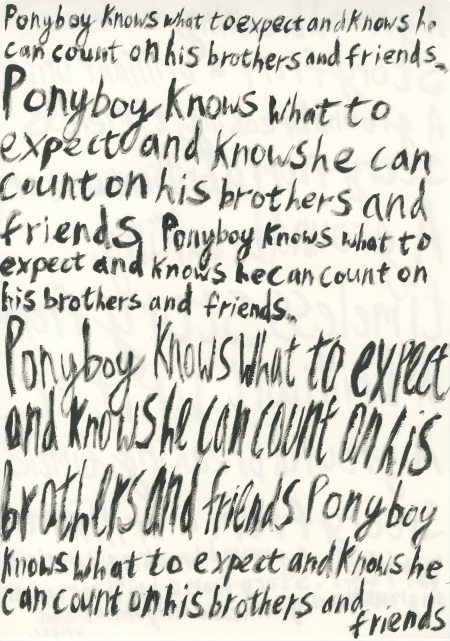 The Outsiders Back cover Text 3