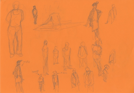 Colour character sketches 2