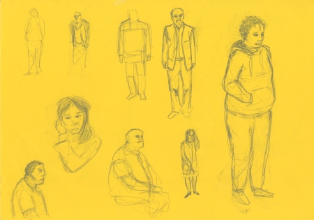 Colour character sketches 3