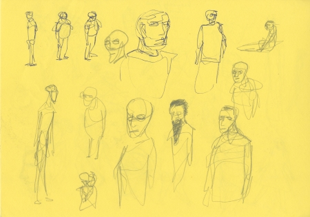 Colour character sketches 4