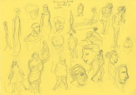 Colour character sketches 5